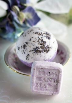 make bath bombs lavander