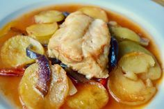 """Greek family recipe for baked fish known as """"plaki"""" Fun Cooking, Cooking Recipes, Healthy Recipes, Greek Recipes, Fish Recipes, Recipies, Cooking For Beginners, Greek Dishes, Fish Dinner"""