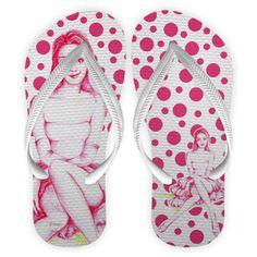 Chinelo Flip Flops   tira branca Coleção Cereja @guiomarroda
