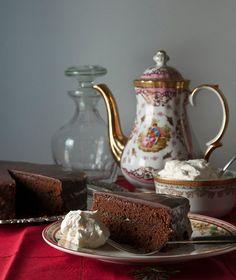 Sachertorte by Stelios Parliaros Death By Chocolate, Chocolate Torte, Cheesecake Cupcakes, Angel Cake, Cake Bars, Fashion Cakes, World Recipes, Greek Recipes, Chocolate Recipes