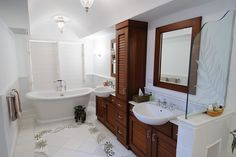 A newly renovated bathroom at Little Hill.