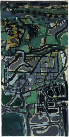 Patrick Heron, Behind Tregenna : 1950 Abstract Landscape, Abstract Art, Patrick Heron, Photo Maps, Composition Design, Love Painting, Bottle Art, Artist Art, Love Art