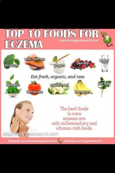 Top 10 foods to help with eczema.
