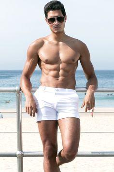 bef13fec80 2EROS S60 Bondi Shorts - White - BONDI - Beachwear Swimwear Australia, Men  Online,