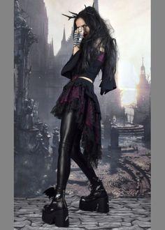 d24442e5c83 Ligea Miniskirt - cotton lycra steampunk gypsy goth mini skirt by  Moonmaiden Gothic Clothing UK