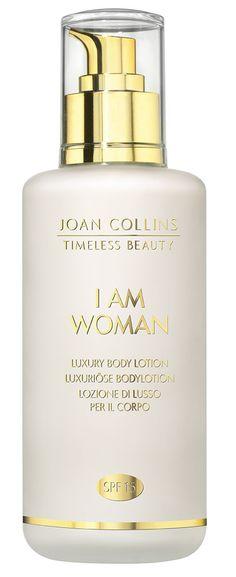 I Am Woman - Luxury Body Lotion - Fragrance - Joan Collins, Timeless Beauty, Body Lotion, Beauty Makeup, Perfume Bottles, Fragrance, Skin Care, Cosmetics, Woman