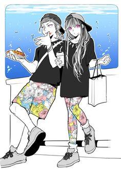 Kazuichi Souda and Ibuki Mioda.
