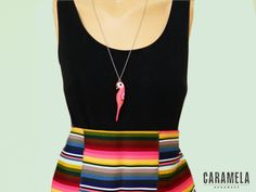 Colorful Parrot Necklace by CaramelaHandmade on Etsy