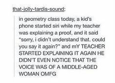 OMHteacher thinks Siri is a student