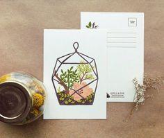 Terrarium postcards by Quill & Fox via Parcel Post