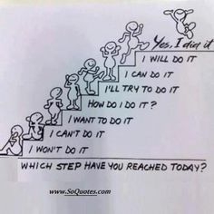 Do not be lazy.and take success step.