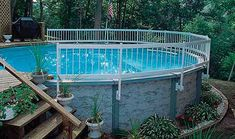 There are a lot of people that do not see the need for an above ground pool fence. An above ground pool fence is designed to keep unwanted visitors from reaching the pool area. Above Ground Pool Fence, Above Ground Pool Liners, Best Above Ground Pool, Above Ground Pool Landscaping, Backyard Pool Landscaping, Above Ground Swimming Pools, Swimming Pools Backyard, Swimming Pool Designs, Pool Decks