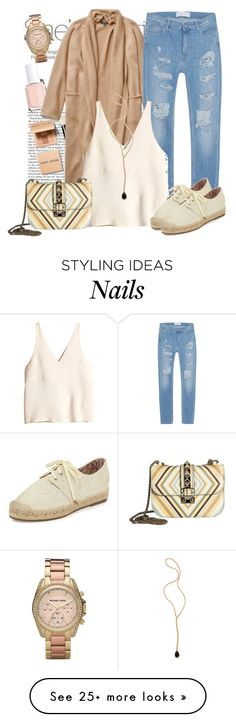 """Без названия #1996"" by ekozlova on Polyvore featuring Nicole, Bobbi Brown Cosmetics, Essie, IRO, H&M, Joie, Valentino, Jacquie Aiche and Michael Kors"