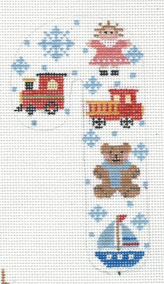 Adorable Toys Candy Cane Hand Painted Needlepoint Canvas