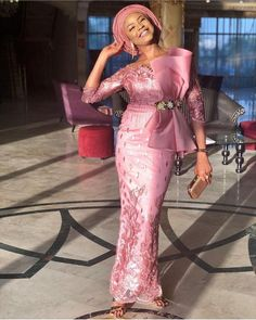 The complete pictures of latest ankara long gown styles of 2018 you've been searching for. These long ankara gown styles of 2018 are beautiful Nigerian Lace Styles, African Lace Styles, African Lace Dresses, African Dresses For Women, African Attire, Ankara Styles, Nigerian Dress, Ankara Tops, African Style