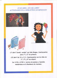Cartel de las actividades con motivo del Día del Libro ( 2012)