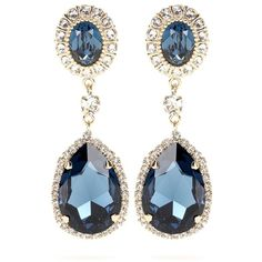 Givenchy Embellished Clip-on Earrings (1,145 CAD) ❤ liked on Polyvore featuring jewelry, earrings, blue, givenchy earrings, givenchy, blue jewelry, clip-on earrings and clip back earrings