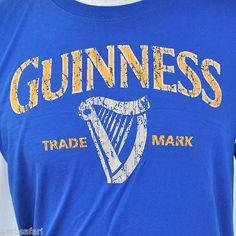 "Guinness ""Trade Mark"" Harp Licensed T-shirt Large Official Euro Merch Beer Irish"