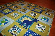 Baby quilt idea - I love the random giraffe!