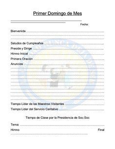 MINUTA DOMINICAL SOCIEDAD DE SOCORRO
