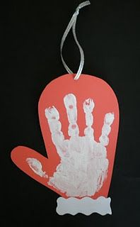 mitten handprint craft