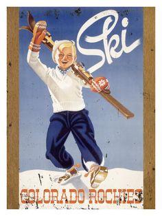 Colorado Rockies ski poster
