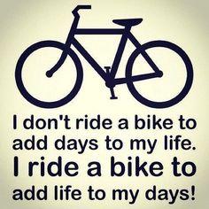 I ride ><> YES!