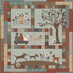 Let me introduce you to Hugo, and all of his doggie friends, in this 4-part Quilt Block of the Month featuring Lynette Anderson Designs. A Dog's Life appliqué project is perfect for animal lovers!