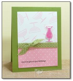 Pretty Pink Drinks kth by kthaman - Cards and Paper Crafts at Splitcoaststampers