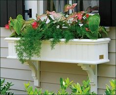 Beadboard Window Box - traditional - window treatments - other metro - by Walpole Outdoors Wood Planter Box, Wood Planters, Planter Ideas, Wood Pergola, Pergola Kits, Traditional Window Treatments, Walpole Outdoors, Wooden Window Shutters, Outdoor Shower Enclosure