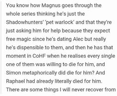 We all love Magnus ❤️❤️❤️ it's magnus bae till the end of time xoxo Book Tv, Book Show, Book Nerd, Shadowhunters Series, Shadowhunters The Mortal Instruments, Belive In, Cassie Clare, Cassandra Clare Books, The Dark Artifices