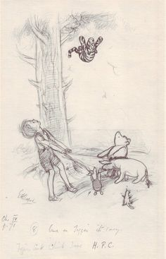 century Winnie the Pooh sketch. I love Winnie the Pooh lol Winnie The Pooh Drawing, Winnie The Pooh Quotes, Vintage Winnie The Pooh, Eh Shepard, House At Pooh Corner, Christopher Robin, Art Story, Wow Art, Tigger