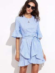 Swans Style is the top online fashion store for women. Shop sexy club dresses, jeans, shoes, bodysuits, skirts and more. Diy Dress, Ruffle Dress, Dress Skirt, Shirt Dress, Modest Fashion, Boho Fashion, Fashion Outfits, Simple Dresses, Casual Dresses For Women