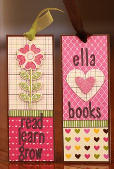 Bookmarks by Write Click Scrapbook. A great idea to encourage kids to read during the summer months. Shop for all your cardstock and project supplies at www.cardstockshop.com.
