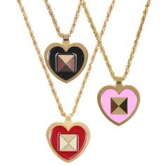 Rock it, color block it! Pyramid Heart Stud Necklace - P.S. I love you Ps I Love You, Our Love, Your Heart