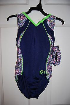 GK Elite Gymnastics Leotard -Child Large - Blue