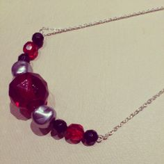 necklace red collares handmade shuuforyou chain hechoamano bisuteria jewelry complementos