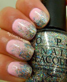 Pink polish (I'll use OPI Mod About You) with OPI Nicki Minaj Save Me