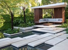 Find garden style inspiration from your surroundings and home design magazines to create the garden you've always envisioned.Find garden style inspiration from your surroundings and home design magazines to create the garden you've always envisioned. Modern Landscape Design, Landscape Concept, Landscape Plans, Modern Landscaping, Outdoor Landscaping, Modern Design, Landscaping Ideas, Modern Pond, Modern Backyard