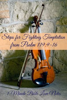 Do you sometimes feel tempted and tried? Psalm 119:9-16 gives a strategy for successfully overcoming these temptations and this 1-minute devotion outlines them verse by verse.~Click image and when it enlarges, click again to read this 1-minute devotion.