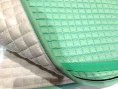 Mint Green Dressage Saddle Pad| Bon-Vivant Equestrian