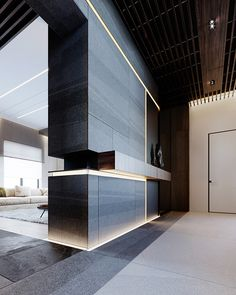 Foyer design Under Wear underwear organizer Japanese Interior, Interior Modern, Interior Design Living Room, Living Room Designs, Tv Wall Design, Foyer Design, Modern Minimalist, Minimalist Design, Foyer Flooring