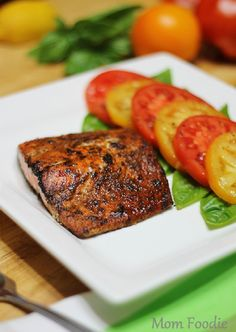 Sour Cream Baked Salmon Recipe Recipe Salmon Tartare Recipe Moroccan Salmon Recipe Recipe Baked Salmon Recipe With Lemon Recipe Rosemary and Garlic Fish Dishes, Seafood Dishes, Seafood Recipes, Cooking Recipes, Main Dishes, Kitchen Recipes, Wild Salmon Recipe Baked, Healthy Salmon Recipes, Delicious Recipes