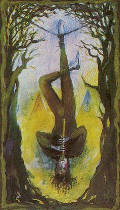 Katalin Szegedi Tarot - The Hanged Man