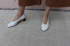 Martiniano high glove shoe in white
