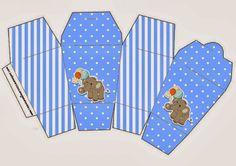 Elefante para Baby Shower: Cajas para Imprimir Gratis.