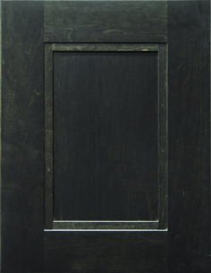 """Trenton Flat Panel Door  Available Material: Standard Wood Species Color Shown: Midnight Stain on Maple Material Available in All Outside Profiles - Shown with 18"""" Roundover Outside Profile Face Framing, Custom Cabinetry, Panel Doors, Wood Species, Cabinet Doors, Color Show, Profile, Flat, Design"""