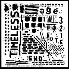 Timeless Stencil by Seth Apter by StencilGirl Products.