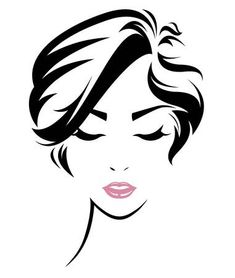 Immagini, foto stock e grafica vettoriale simili a tema illustration of women short hair style icon, logo women face on white background, vector - 512599735 Day Of The Dead Drawing, Hair Sketch, Face Illustration, Woman Silhouette, Short Hairstyles For Women, Free Vector Art, Hair Art, Girl Face, Art Logo