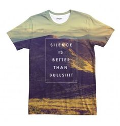 We try to live by this motto. Just be careful not to wear this top to your job interview, it's the only place and time where bullshit is actually better than silence. www.bittersweetparis.com